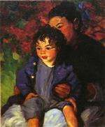 Robert Henri  - Bilder Gemälde - Sammy and His Mother