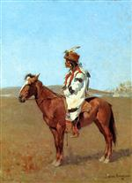 Frederic Remington - Bilder Gemälde - A Blackfoot Chief
