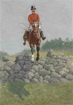 Frederic Remington - Bilder Gemälde - A Hunting Man