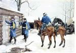 Frederic Remington - Bilder Gemälde - Arresting the Deserter
