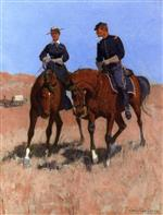 Frederic Remington - Bilder Gemälde - Belle McKeever and Lt. Edgar Wheelock