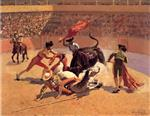 Frederic Remington - Bilder Gemälde - Bull Fight in Mexico