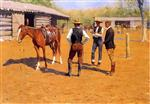 Frederic Remington - Bilder Gemälde - Buying Polo Ponies in the West