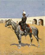 Frederic Remington - Bilder Gemälde - Cavalryman of the Line, Mexico