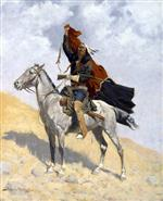 Frederic Remington  - Bilder Gemälde - The Blanket Signal