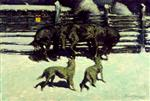 Frederic Remington  - Bilder Gemälde - The Call for Help