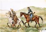 Frederic Remington  - Bilder Gemälde - The Couriers