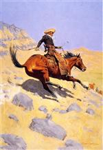 Frederic Remington  - Bilder Gemälde - The Cowboy