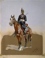 Frederic Remington  - Bilder Gemälde - The Gendarme