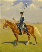 Frederic Remington  - Bilder Gemälde - The Hussar