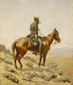 Frederic Remington  - Bilder Gemälde - The Lookout