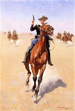 Frederic Remington  - Bilder Gemälde - The Trooper