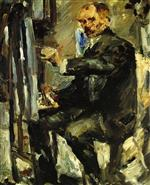Lovis Corinth  - Bilder Gemälde - Self Portrait at the Easel