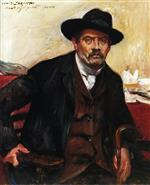 Lovis Corinth  - Bilder Gemälde - Self Portrait in a Black Hat