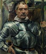 Lovis Corinth  - Bilder Gemälde - Self Portrait in Armour
