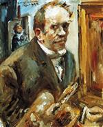 Lovis Corinth  - Bilder Gemälde - Self Portrait with Palette