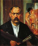 Lovis Corinth  - Bilder Gemälde - Self Portrait without Collar