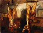 Lovis Corinth  - Bilder Gemälde - Slaughtered Calves