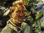 Lovis Corinth  - Bilder Gemälde - Small Self Portrait at the Walchensee