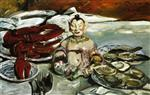 Lovis Corinth  - Bilder Gemälde - Still Life with Buddha, Lobsters and Oysters