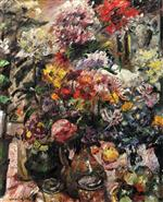 Lovis Corinth  - Bilder Gemälde - Still Life with Chrysanthemums and Amaryllis