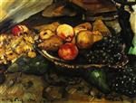 Lovis Corinth  - Bilder Gemälde - Still Life with Fruit and Wine Glass
