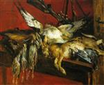 Lovis Corinth  - Bilder Gemälde - Still Life with Hare and Partridges