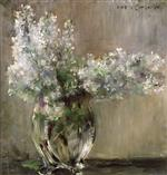 Lovis Corinth  - Bilder Gemälde - Still Life with White Lilacs