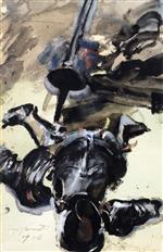 Lovis Corinth  - Bilder Gemälde - Suit of Armor and Sword