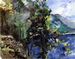 Lovis Corinth  - Bilder Gemälde - The Walchensee with the Slope of the Jochberg