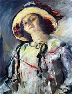 Lovis Corinth  - Bilder Gemälde - Wilhelmine in a Yellow Hat