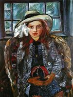 Lovis Corinth  - Bilder Gemälde - Wilhelmine with a Ball