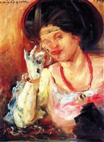 Lovis Corinth  - Bilder Gemälde - Woman with a Glass of Wine