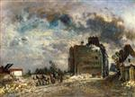Johan Barthold Jongkind - Bilder Gemälde - Demolition of the Rue des Francs-Bourgeois