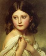 Franz Xavier Winterhalter - paintings - A Young Girl called Princess Charlotte