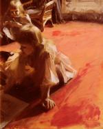 Anders Zorn - paintings - A Portrait of the Daughters of Ramon Subercasseaux