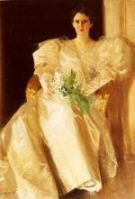 Anders Zorn - Bilder Gemälde - Portrait von Mrs. Eben Richards