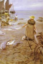 Anders Zorn - paintings - Fiskmarknad I St. Ives