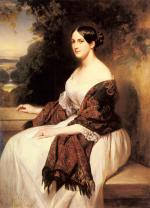 Franz Xavier Winterhalter - paintings - Portrait of Madame Ackerman, the wife of Chief Finance Minister of King Louis Philippe