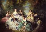 Franz Xavier Winterhalter  - Bilder Gemälde - The Empress Eugenie Surrounded by her Ladies