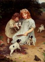 Arthur John Elsley - paintings - An Univited Guest