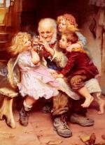 Arthur John Elsley - paintings - Grandfathers Favourites