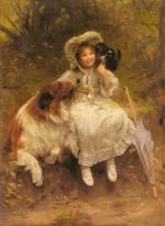 Arthur John Elsley - paintings - He wont hurt you