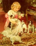 Arthur John Elsley - paintings - Tea Time