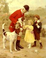 Arthur John Elsley - paintings - The Huntsmen Pet