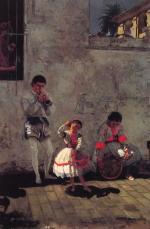 Thomas Eakins - paintings - A Street Scene in Seville