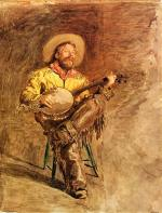 Thomas Eakins - paintings - Cowboy Singing