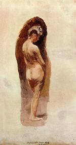 Thomas Eakins - paintings - Female Nude