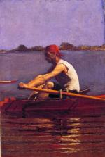 Thomas Eakins - Bilder Gemälde - John Biglin in a single scull