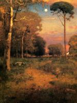 George Inness - paintings - Early Moonrise, Florida